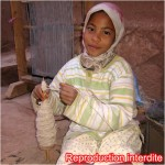 Jolie petite fille du Maroc