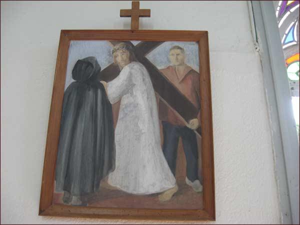 Un des 12 tableaux du chemin de croix