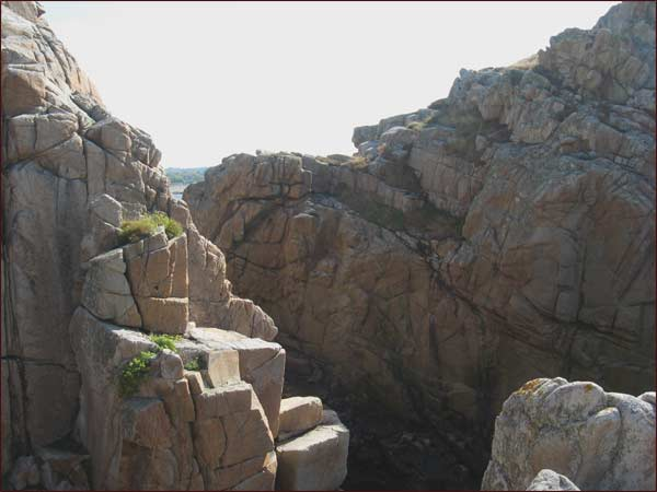 rochers de granit rose