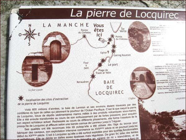 explication de l'origine de la pierre de Locquirec
