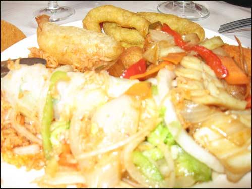 plat asiatique varié