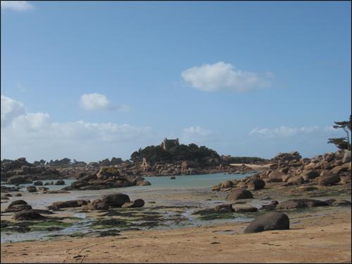 vue de la plage st-guirec