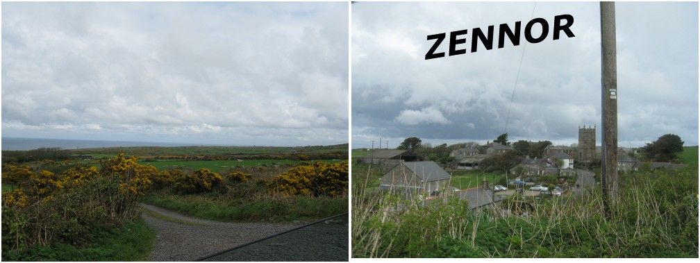Le superbe village de Zennor  avec sa légende de la petite sirène