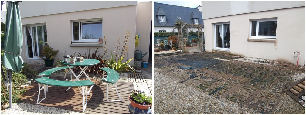 Jardin avant la véranda